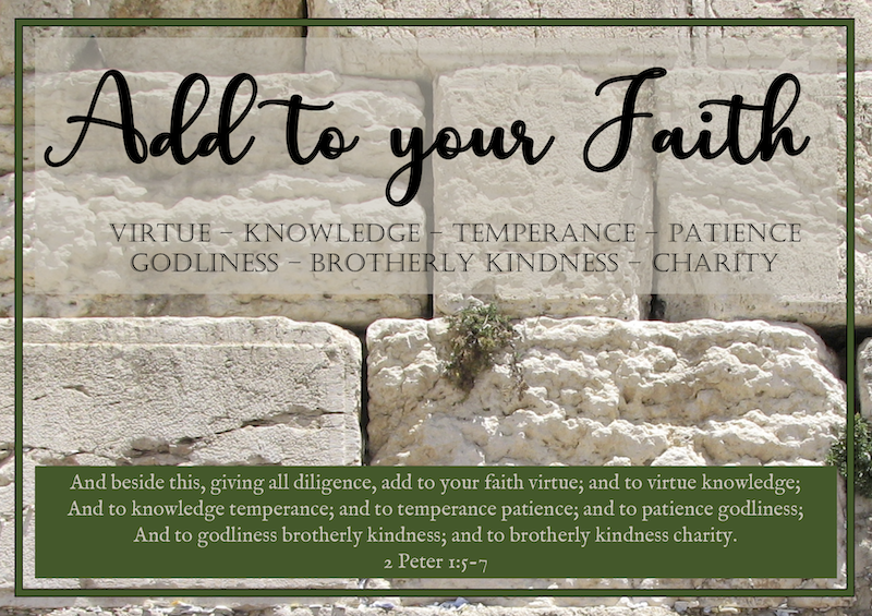 2021 Add to your Faith - Church Theme Poster 2nd Peter 1:5-7